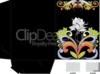Decorative template for folder design