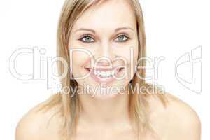 Portrait of a glowing woman