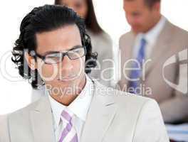 Portrait of a confident businessman wearing glasses
