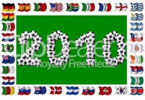 Fussball 2010 - teilnehmende Nationen