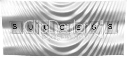 illustration of a flag success