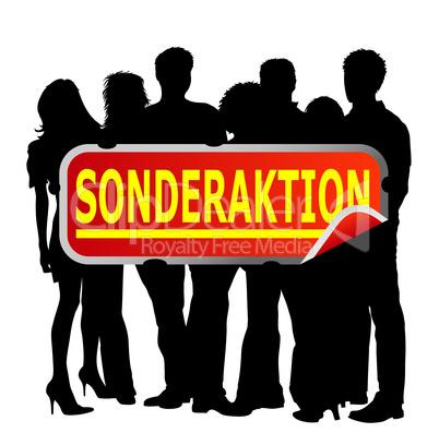 Gruppe Menschen - Sonderaktion