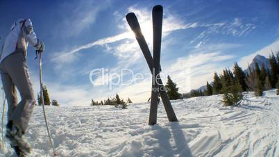Skier im Schnee