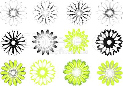 Blüten design elements