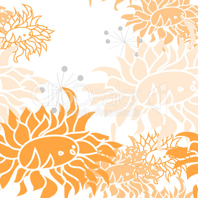 Colorful seamless pattern with flowers