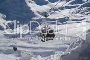 Ski lift. Caucasus. Elbrus