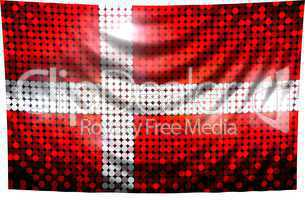 Pailetten Flagge Dänemark