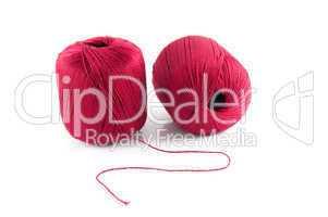two red bobbin