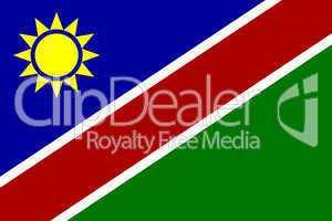 Nationalfahne von Namibia