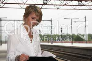 Working at the trainstation