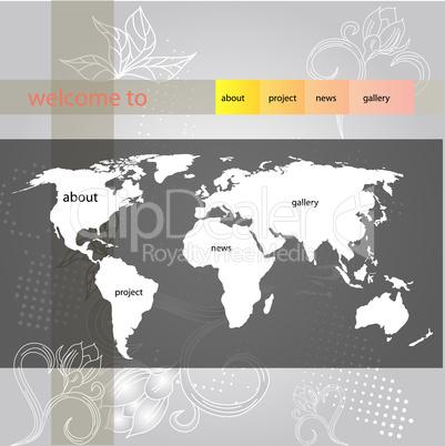 website template for summer design