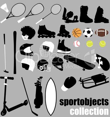 sport objects set