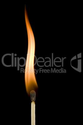 burning matchstick flame