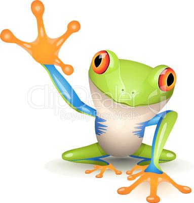 bunter Frosch