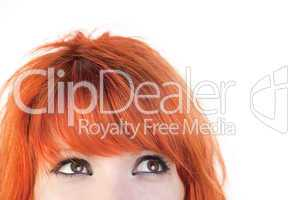 Eyes of redhead woman