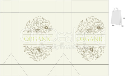Template for decorative bag