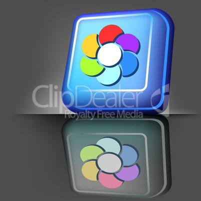 flower color button