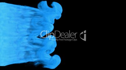 Two Colored Abstract smoke streams