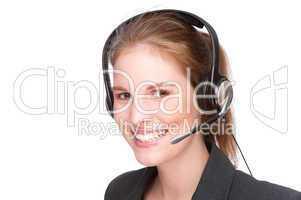 Female callcenter employee