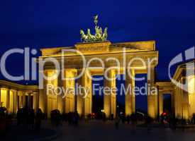Berlin Brandenburger Tor Nacht - Berlin Brandenburg Gate night 02