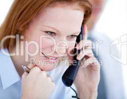 Confident businesswoman taling on phone