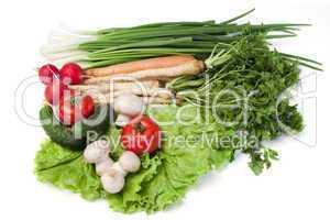 Tableau of vegetables