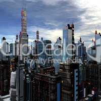 futuristic landscape