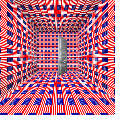 room with us flag texture
