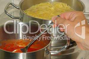 Kochen Spaghetti - cooking spaghetti 14
