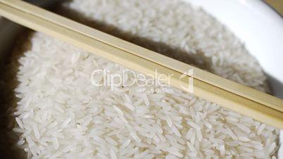 Rice with Sticks Turning