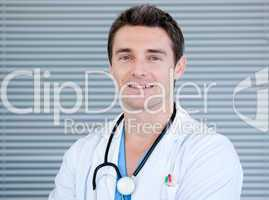 Portrait of a charismatic male doctor looking at the camera