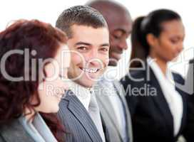 Positive multi-ethnic business people in a meeting