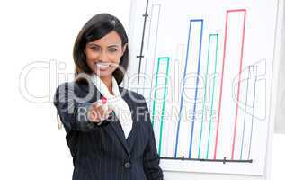 Self-assured businesswoman doing a presentation