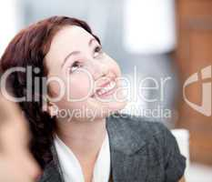 Portrait of a radiant businesswoman smiling