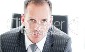 Portrait of an attractive businessman looking at the camera