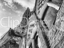 Sagrada Familia from the Ground, Barcelona, Spain