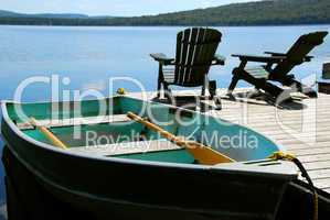 Chairs boat dock
