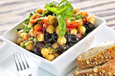 Vegetarian chickpea salad