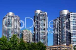 Modern condominium complex