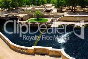 Jardin de la Fontaine in Nimes France
