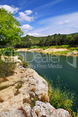 River Gard in southern France