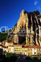 Town of Sisteron in Provence France