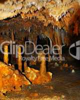 Cave rock formations