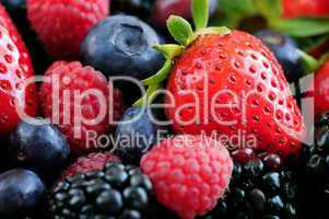 Assorted fresh berries
