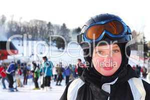 Girl ski