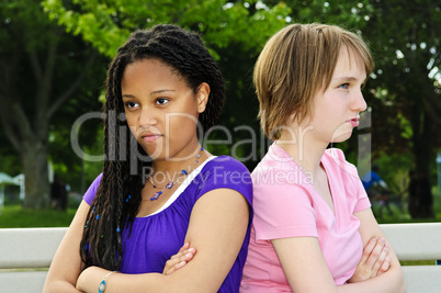 Angry teenage girls