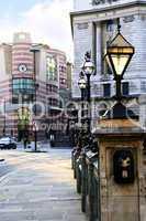 Bank station entrance in London