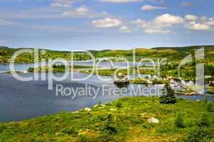 Beautiful lake shore in Newfoundland