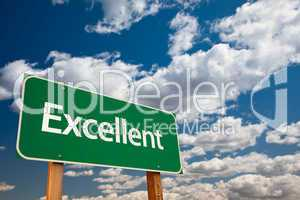 Excellent Green Road Sign with Sky