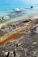 Rocks and clear water background